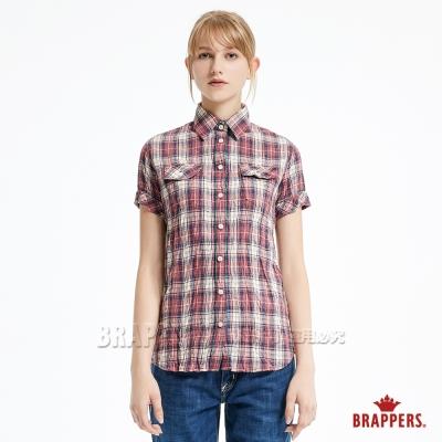 BRAPPERS 女款 上衣系列-女用短袖合身襯杉-紅