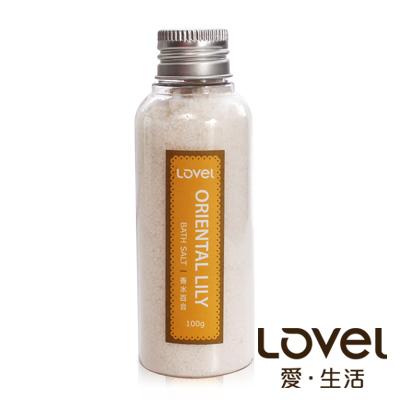 Lovel 天然井鹽/香氛沐浴鹽100g5入組(香水百合)
