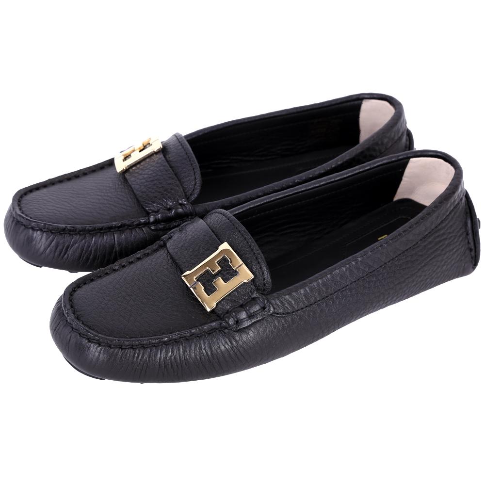 FENDI 品牌Logo牛皮休閒鞋(女/黑色)