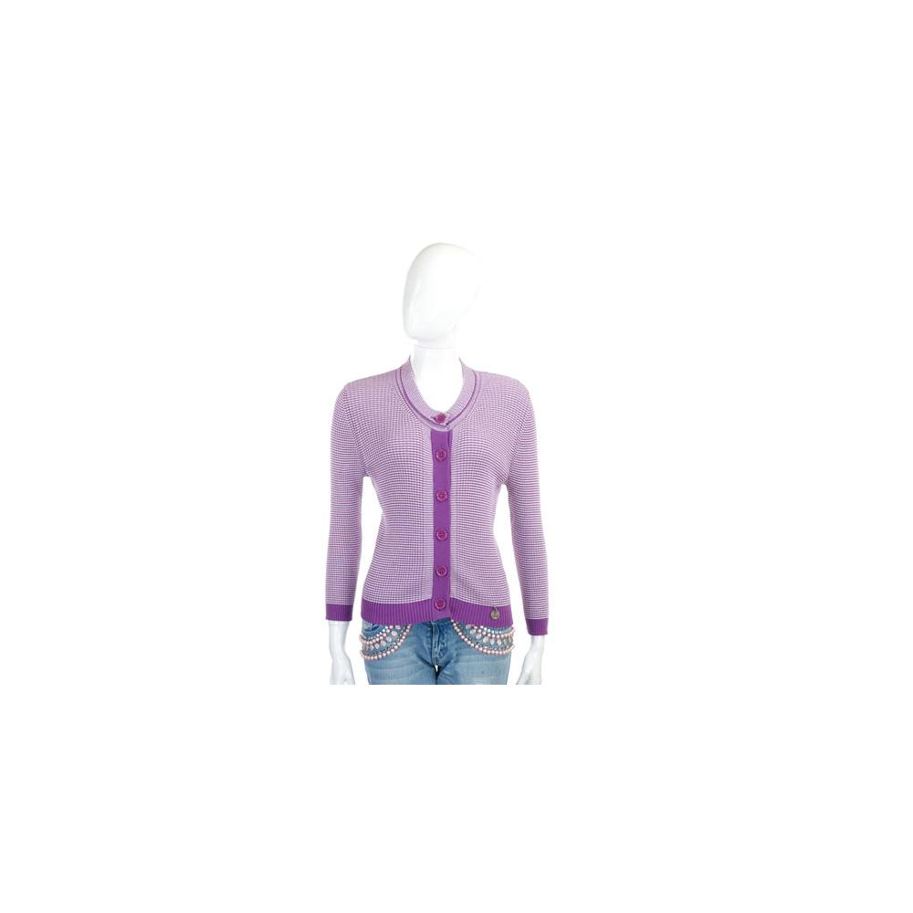 SEE BY CHLOE 紫白色格紋針織外套 @ Y!購物