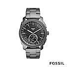 FOSSIL Q MACHINE 重裝武士強悍智慧錶-鐵灰