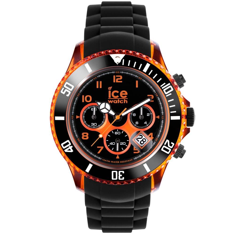 Ice-Watch 電流系列 閃電三眼計時手錶-橘/53mm
