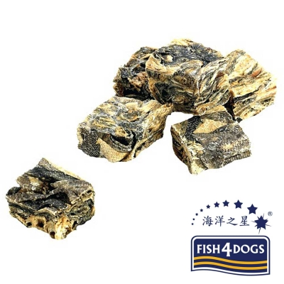 【海洋之星FISH4DOGS】營養潔齒點心魚皮方塊酥100g、適合一般犬隻