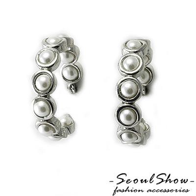 【Seoul Show】蜜糖波提 珍珠針式耳環