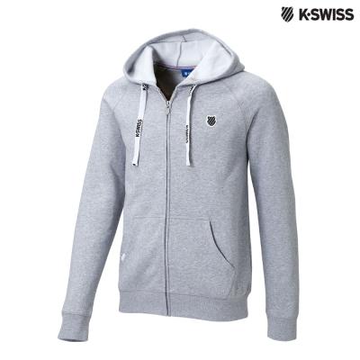 K-Swiss Raglan Slv Hood Jkt 1休閒連帽外套-男-灰
