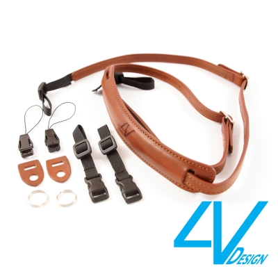 4V LUSSO-SLIM系列相機背帶SP01B-VV2323-棕/棕色(S)