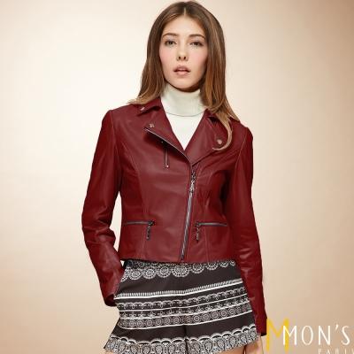 MONS 巴黎精品騎士羊皮外套