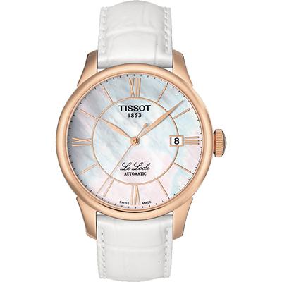 TISSOT Le Locle 力洛克羅馬機械腕錶-珍珠貝x玫瑰金框/39mm