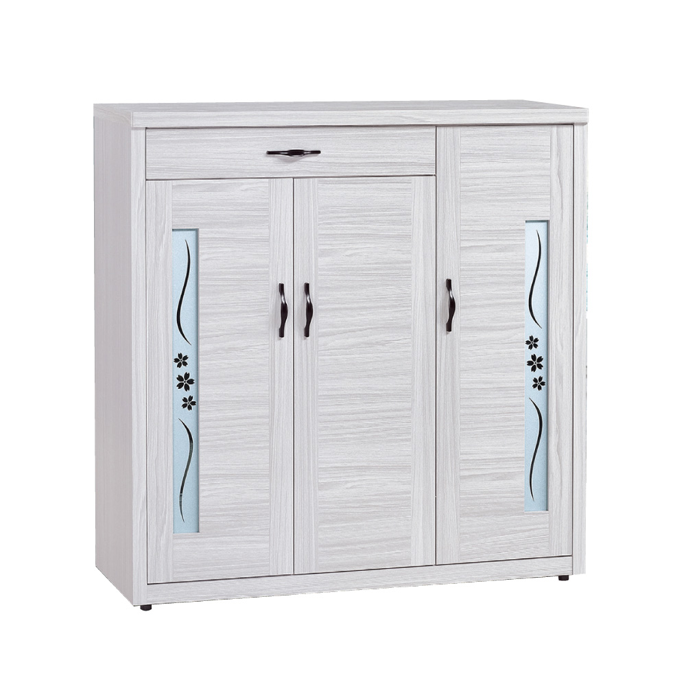 品家居 麥格3.9尺木紋三門單抽鞋櫃-116.5x40.5x121.2cm免組