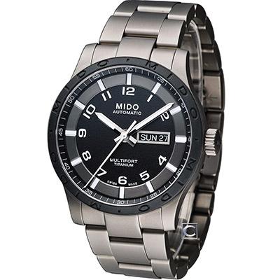 MIDO 美度 Multifort 鈦金屬先鋒機械錶-鈦/42mm