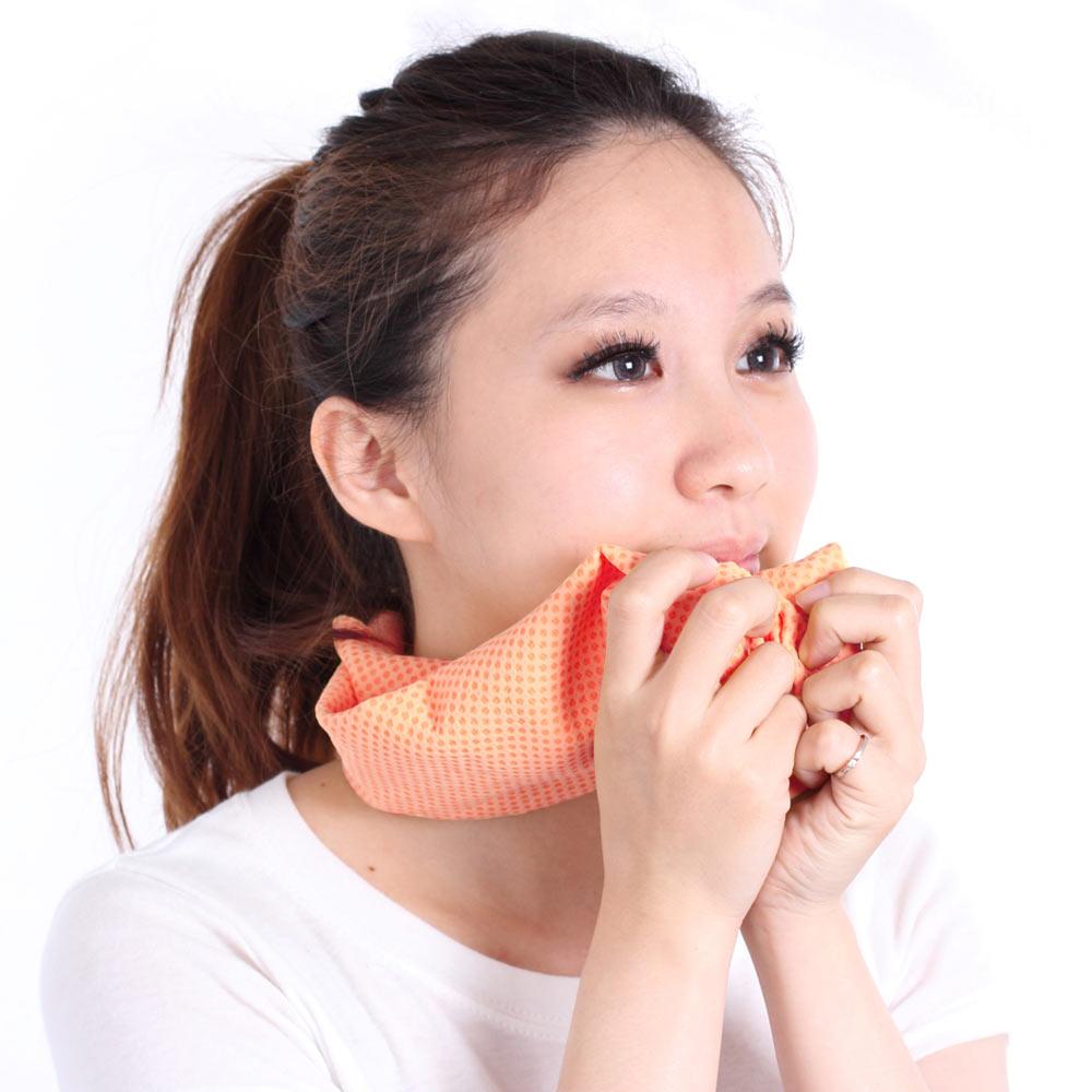 Clover瞬間涼感多用途冰涼巾小領巾-柳橙橘