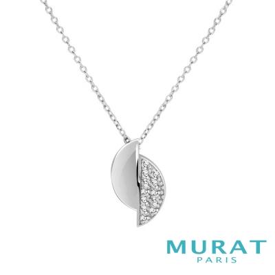 MURAT Paris米哈巴黎 質感交錯半月型項鍊