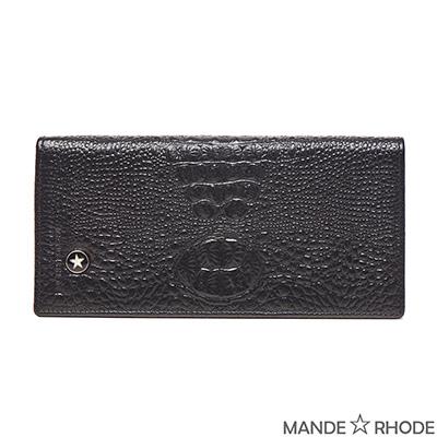 MANDE RHODE-貝加莫x鱷魚紋紳士二折真皮長夾(86343-C)