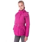 【hilltop山頂鳥】女款WS抗風防小雨保暖蓄熱羽絨短大衣F22FV4紫粉