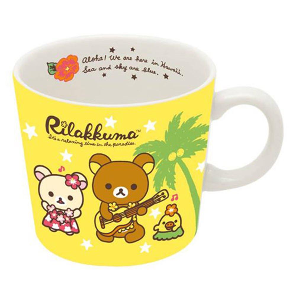 拉拉熊夏威夷系列馬克杯。黃