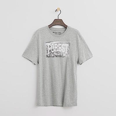 Hang Ten - 男裝 - 有機棉 城市實景T恤-淺灰色