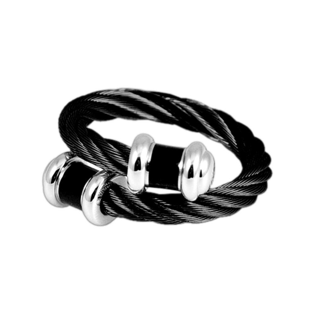 CHARRIOL 夏利豪 經典徹爾斯鋼索IP黑手環