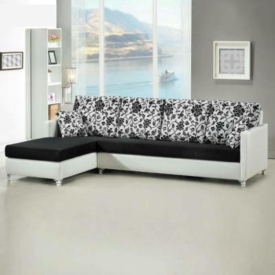 Boden-愛莉百花珠光皮L型沙發-左右型可選