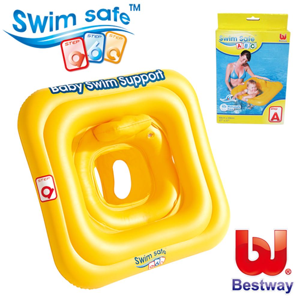 《凡太奇》美國品牌【Bestway】27x27方形平衡寶寶充氣座圈