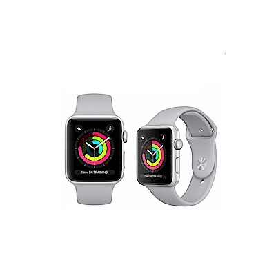 Apple Watch Series 3 銀鋁38m(粉/霧灰)