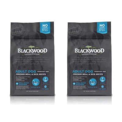 BlackWood 柏萊富 特調成犬活力配方(雞肉+米) 5磅 2.27公斤 X 2包