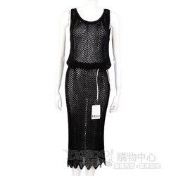 GENNY 黑色網狀針織洋裝