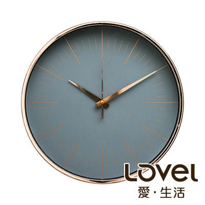 Lovel 30cm 簡約玫瑰金框靜音時鐘-共3款