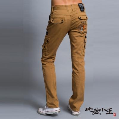 地藏小王 BLUE WAY 惡藏文字彈性低腰直筒褲