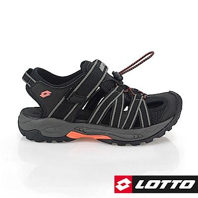 LOTTO 義大利 女 排水護趾涼鞋(黑)
