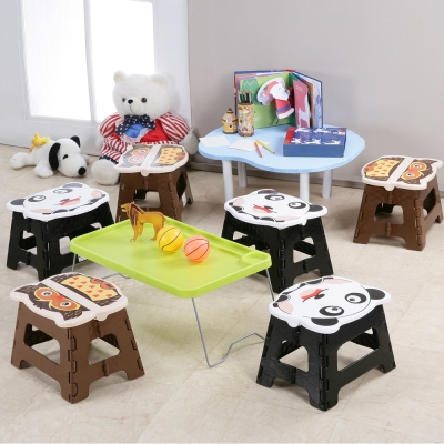 創意達人貓頭鷹遇到熊貓可收摺疊椅(6入)