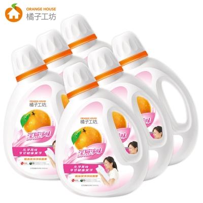 橘子工坊 天然濃縮洗衣精 2200ml x6瓶-深層淨味/箱