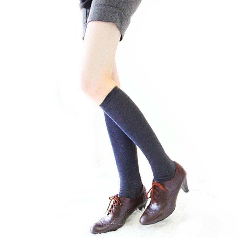 I-shi 薄款金蔥半統襪(藍)