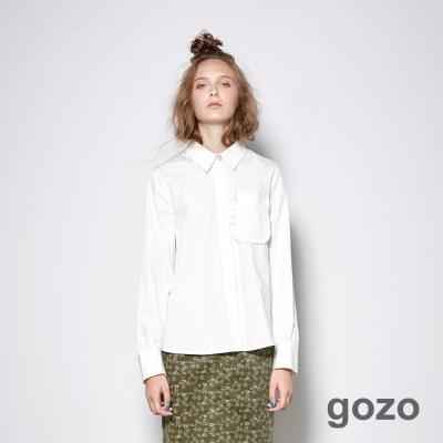 gozo 浪漫藝術家口袋修身襯衫 (二色)