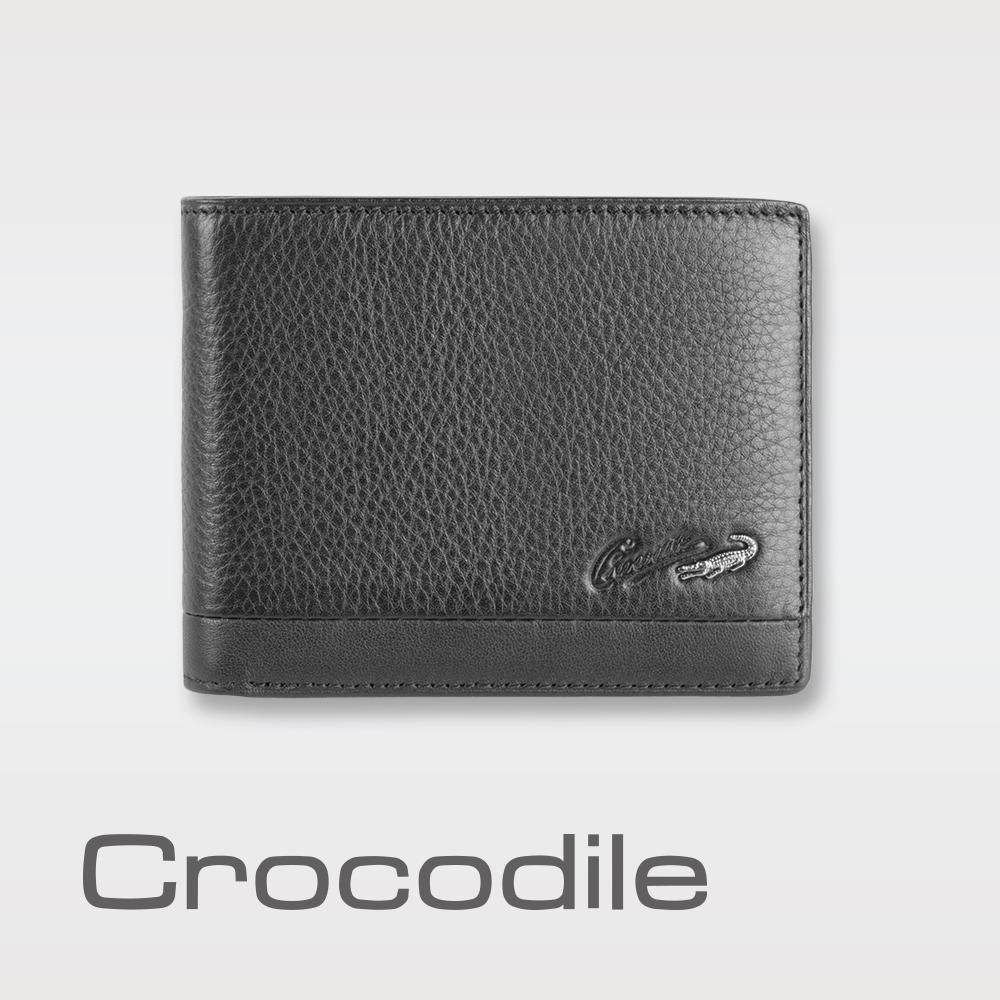 Crocodile Classic 經典系列荔紋軟皮短夾 0103-3354