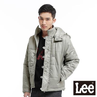 【Lee】可拆帽拉鍊輕量鋪棉保暖外套-男款(銀灰)