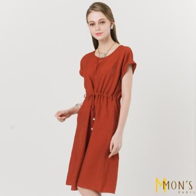 MONS 造型縮腰綁帶洋裝