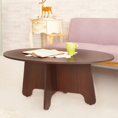 澄境 日系低甲醛特殊橢圓造型茶几桌100x60x42cm-DIY
