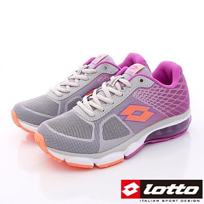 Lotto樂得-翼行者2氣墊款-TH798灰紫-女段