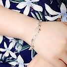 梨花HaNA 韓國925銀清新的自然小圓珠銀球手鍊