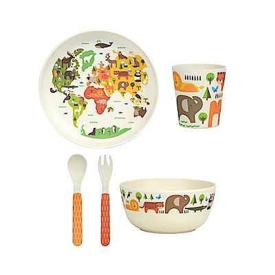 英國Wild&Wolf Petit Collage 兒童餐具禮盒5件組 小世界