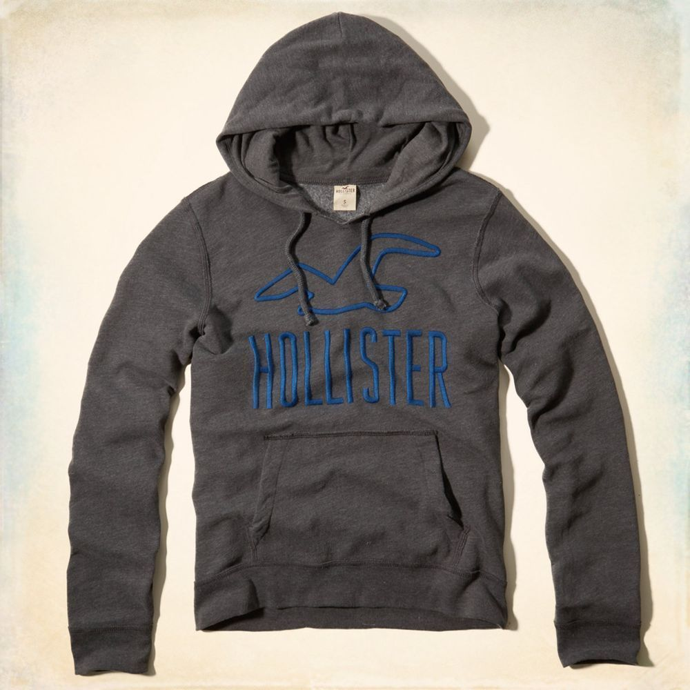 Hollister HCO 長袖 帽T 灰色 0281