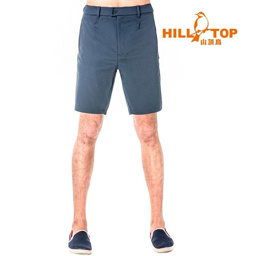 【hilltop山頂鳥】男款抗UV超潑水彈性短褲S09M67-藍莓