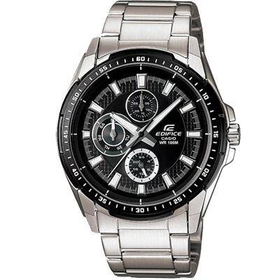 EDIFICE 前衛IP黑時尚品味腕錶(EF-336DB-1A1)-IP黑框/44mm