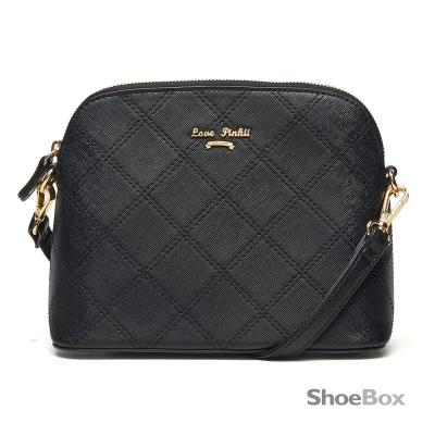 鞋櫃ShoeBox-女包-斜背包-菱格車線貝殼包-黑