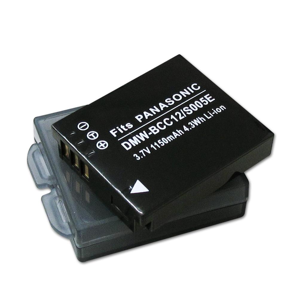 WELLY Panasonic DMW-BCC12/CGA-S005E高容量防爆相機鋰電池