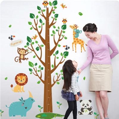 時尚壁貼 - 森林王國大樹身高貼