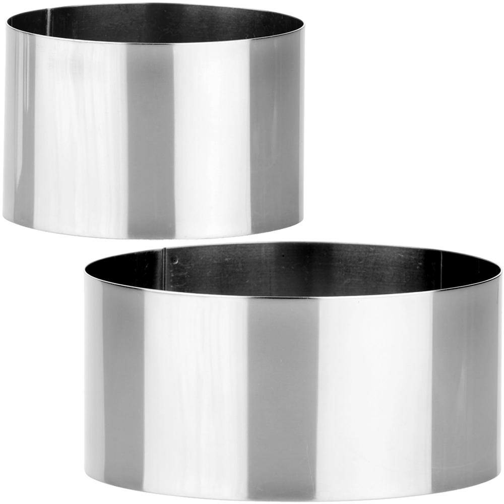 TESCOMA Chef大小不鏽鋼塑型環2件