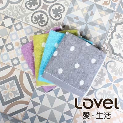 Lovel 專利咖啡紗除臭抗UV圓點方巾3件組