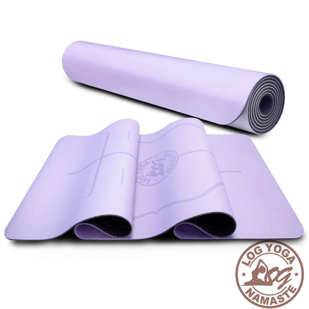 LOG YOGA 樂格 PU環保天然橡膠 專業款瑜珈墊 -淡紫色 (厚度5mm)