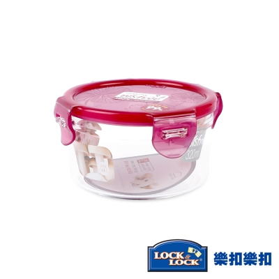 樂扣樂扣Bisfree系列晶透抗菌保鮮盒/圓形320ML(8H)